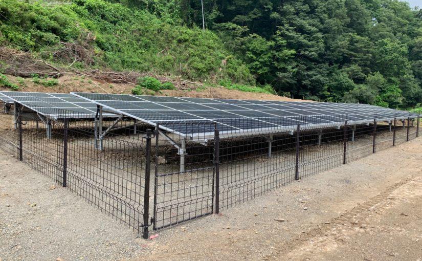 野立て 太陽光システム 50kw  完成しました。